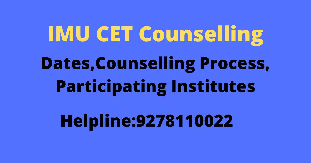 IMU CET Counselling