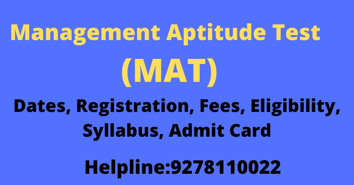 Management Aptitude Test (MAT)