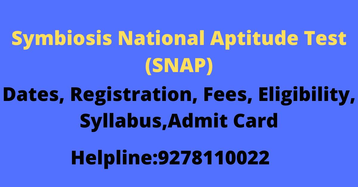 Symbiosis National Aptitude Test (SNAP)